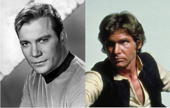Capitán Kirk vs Han Solo