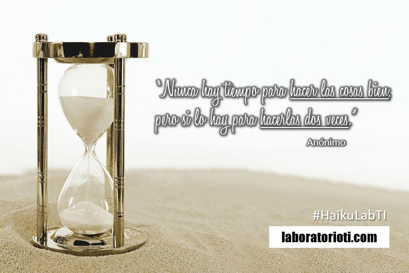 haiku tiempo hacer cosas
