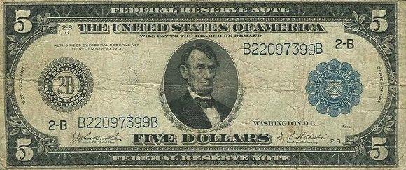 5 Dólares