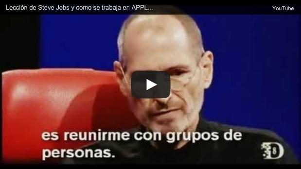 Steve Jobs hablando de Apple
