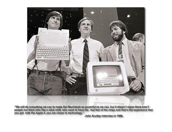 Jobs, Sculley & Wozniak