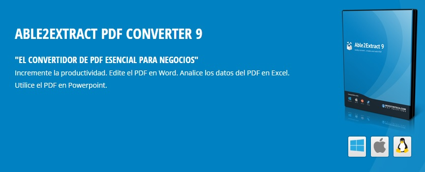 ABLE2EXTRACT PDF CONVERTER 9