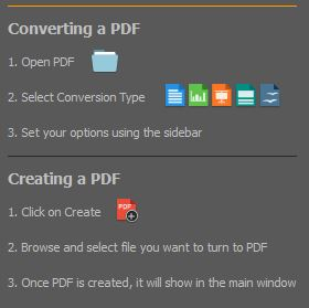 PDF Converter Elite 4, Quick Start Tips