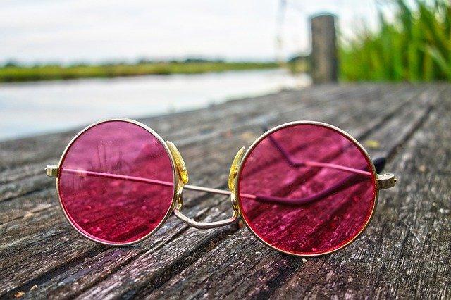 gafas de color de rosa