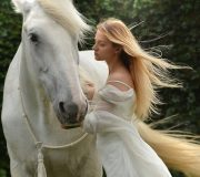 mujer caballo placer
